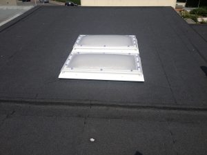 flat roof with skyligts 2