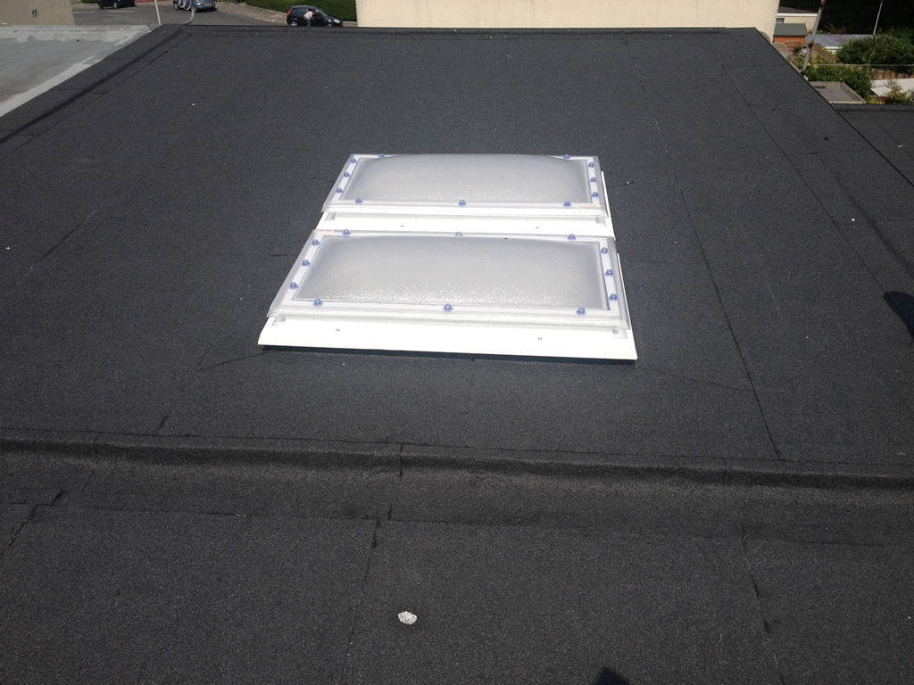 Flat Roof With Skyligts 2 187 Stay Dry Roofing Plymouth Roof